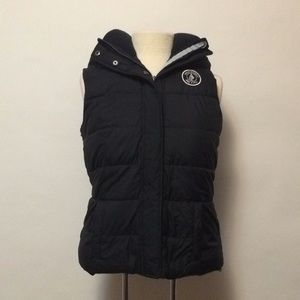 Abercrombie & Fitch Down Black Hooded Vest
